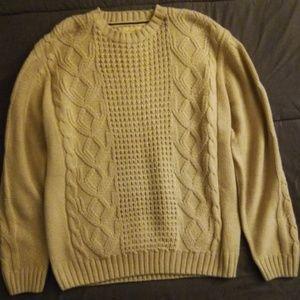XL Men's waterproof Beige sweater